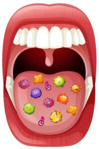 An Image Showing Oral Bacteria illustration
